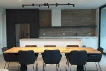 Kitchen: Black/White, Corian benchtops